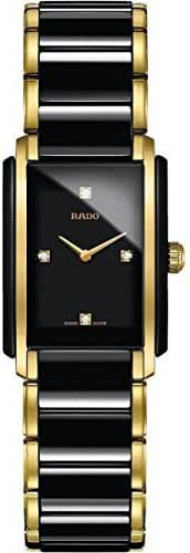 Rado Integral Jubile Two-tone Black Ceramic and Gold Womens Watch - R20845712 by Rado