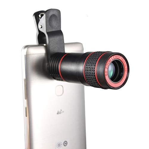 日本最大級 ユニバーサル 8倍望遠鏡 双眼鏡 光学ズーム 望遠鏡 カメラレンズクリップ 携帯電話レンズ iPhone サムスン HTC用   B07LBSJNMM, 米 餅 おかき工房 8c4d5f8b