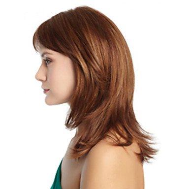 GSP-moda africanos americanos pelucas sintéticas longitud media peluca pelo ondulado pelucas naturales para las mujeres atractivas con , multicolor: ...