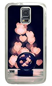 Shocklock Lovely Hearts Pattern-5 Samsung Galaxy S5 Transparent Sides Hard Shell Case