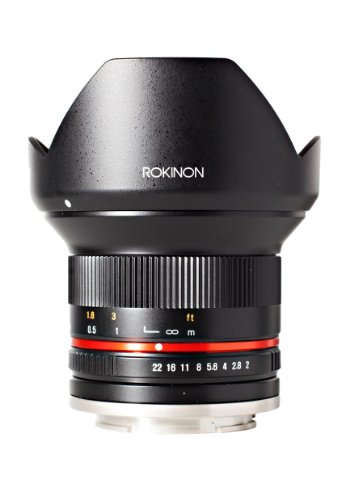 Rokinon RK12M-M 12mm F2.0 NCS CS Ultra Wide Angle Fixed Lens for Canon EF-M Mount Compact System Cameras ()