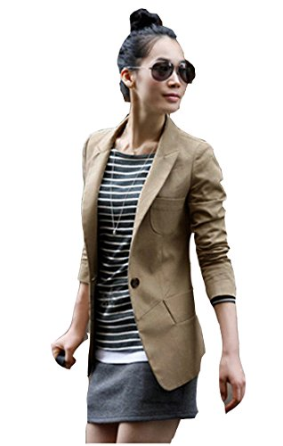 TM Fashion Women Slim One Button Casual Blazer Suit Jacket Coat Long Sleeve