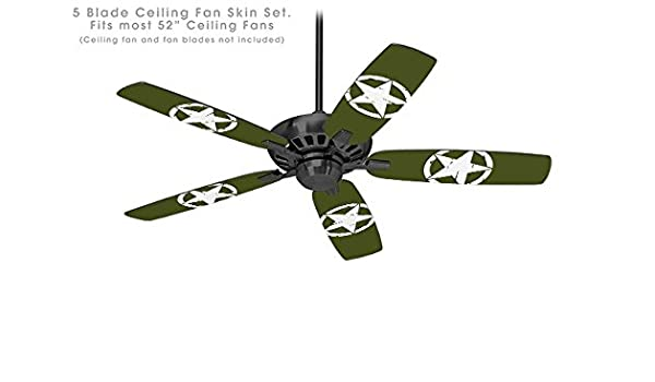 Distressed Army Star - Ceiling Fan Skin Kit fits most 52