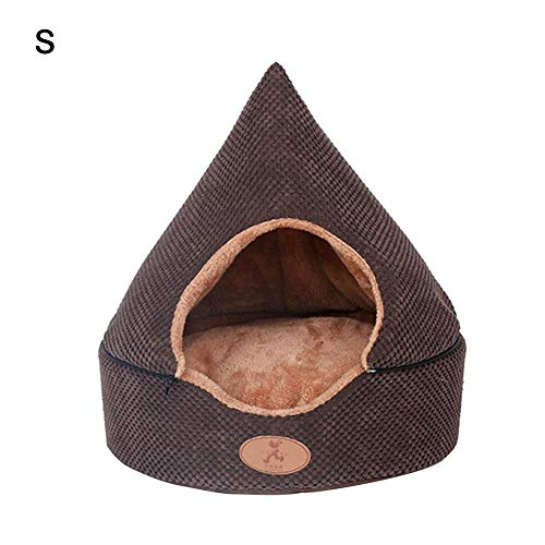 stonishi Cat Tent Cave, Four Seasons Universal Warm Pet House, Removable Washable Triangle Cat Bed, for Puppy Cat Rabbit Pig Imaginative