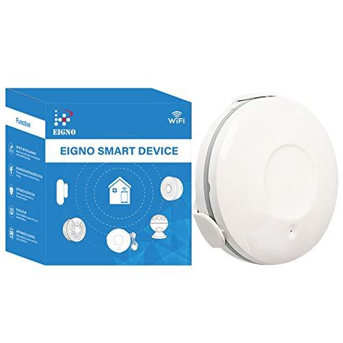 EIGNO WiFi Water Leak Sensor,Battery Operated,Smart Phone APP Alert, No Hub Required,DIY Easy Instal,Plug & Play. 1-Pack