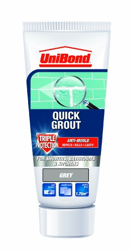 UniBond Triple Protect Anti-Mould Wall Tile Grout Tube - Grey ()