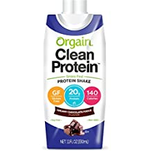 Orgain Grass Fed Protein Shake, Creamy Chocolate Fudge, 11 Ounce, 12 Count, Non-GMO, Gluten Free