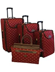 American Flyer Luggage Lyon 4 Piece Set, Metalic Red, One Size