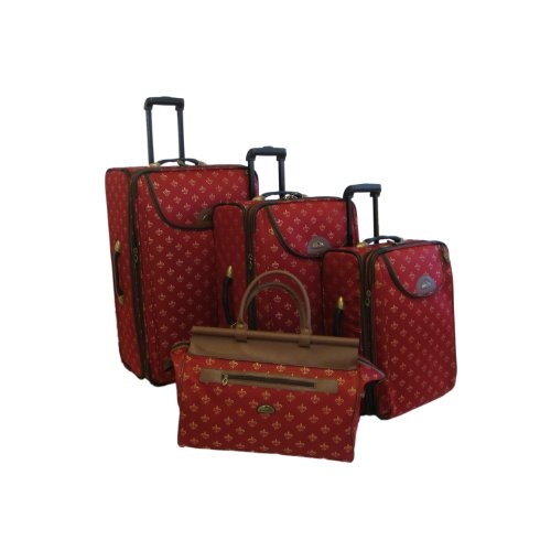 american-flyer-luggage-lyon-4-piece-set-metalic-red-one-size