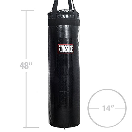 Ringside 100 Large Unfilled Punching Bag, 14x48'', Black by Ringside