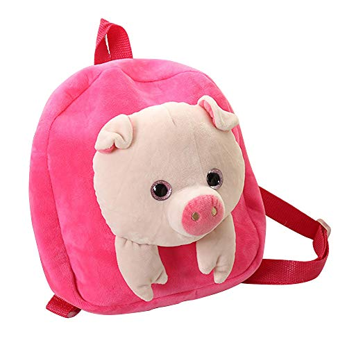 Warooma Cute Toddler Backpack Children Preschool Plush Pig Doll Toy...