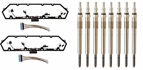 Michigan Motorsports 7.3L Diesel Powerstroke Valve Cover Gasket, 8 Glow Plugs with Injector Glow Plug Harness - Fits Ford 7.3 F250 F350 1997-2003 by Michigan Motorsports