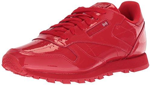 Reebok Unisex Classic Leather Patent Cross Trainer, Primal red, 4 M US Big -