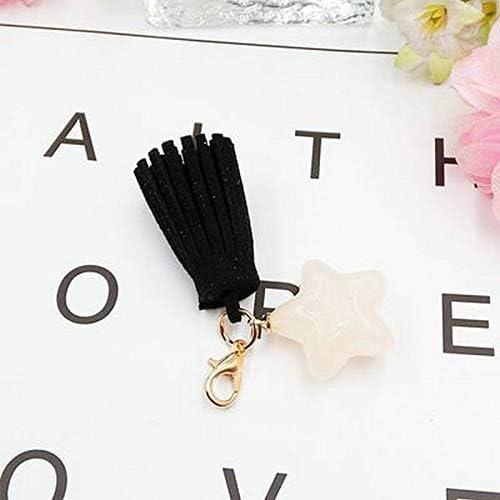 TEENタッセルキーペンダント diy 携帯電話のジュエリーアクセサリー五角形ペンダントバッグキーチェーンの装飾品ガールかわいいキーホルダーギフト s キーホルダー かわいい