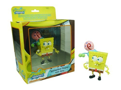 SpongeBob SquarePants Mini Figure World Series 1 - Spongebob Playing with Gary