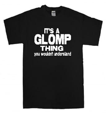 "GLOMP ""THING"" BLACK T SHIRT (small)"