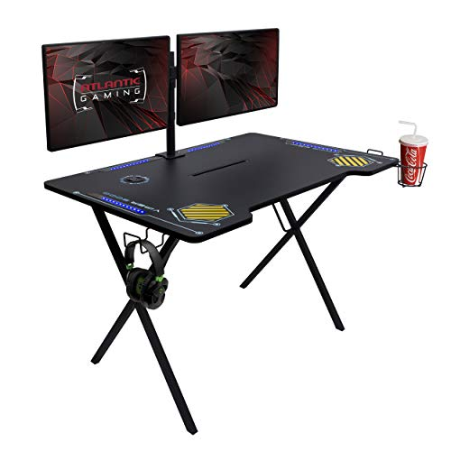Atlantic Gaming Desk Viper 3000, X-Large, BlackBlue