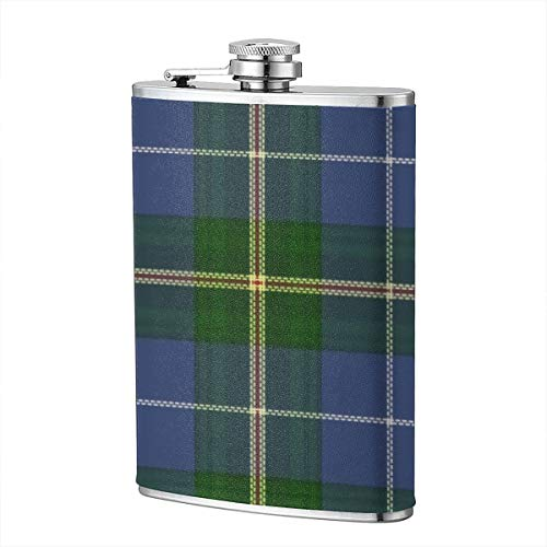 (Jhgsjnsf Nova Scotia Tartan Lighthouse Route Flagon 8 OZ Leather Printed Stainless Steel Hip Flask for Drinking Liquor E.g. Whiskey, Rum, Scotch, Vodka Rust Great Gift )