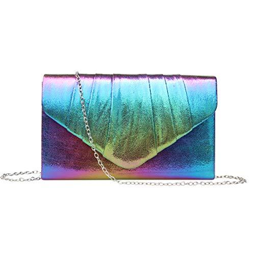 GESU Womens Shining Envelope Clutch Purses Glitter Evening Bag Handbags For Wedding and Party. (Multicolor)
