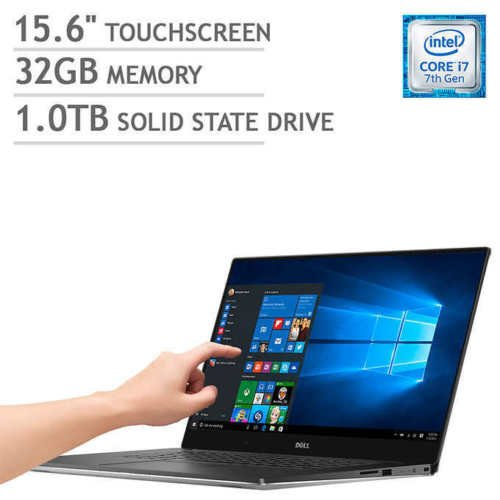 Dell XPS 9570 15.6in UHD Touchscreen Laptop PC - Intel Core i7-8750H 2.2GHz, 32GB, 1TB SSD, Webcam, NVIDIA GTX 1050 Ti 4GB Graphics, Windows 10 Home (Renewed)