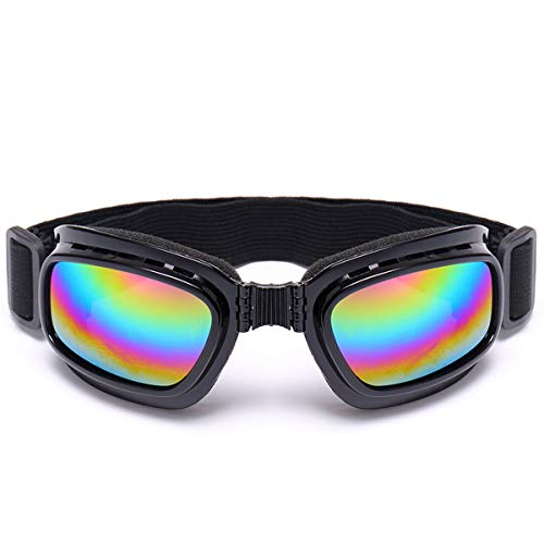(Hitommy Foldable Motorcycle Glasses Off Road Racing Eyewear Skiing Goggles Snowboard - Colorful)