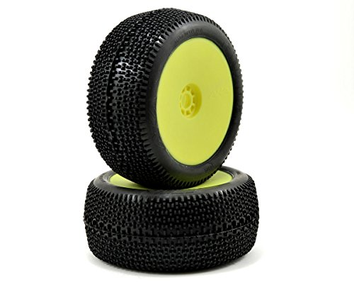 AKA Products 14112VRY Racing Truggy Evo City Block Super Soft Pre-Mounted Yellow Tire, Scale 1:8 ()