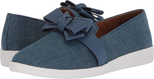 Soft Style Shoes - Soft Style by Hush Puppies Women's Padme Loafer, Blue Denim, 11.0 W US
