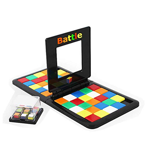 Magic Blocks Game - Battle Cube Race University Desktop Game Colorful Race Board Desktop Game Toy for Children Educational Family Interaction (Rubiks Race Board Game)