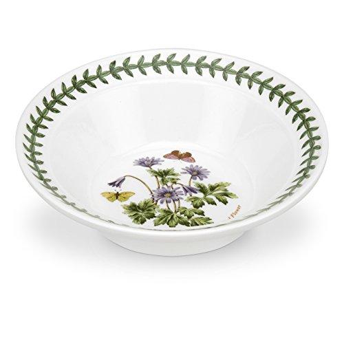 Portmeirion Botanic Garden Oatmeal Soup Bowl, Wind Flower Motif, Set of 6