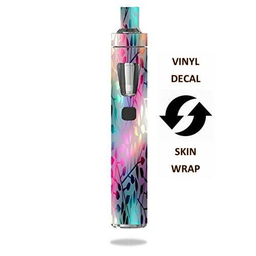 Joyetech eGo AIO Vape E-Cig Mod Box Vinyl DECAL STICKER Skin Wrap / > > > Decal Sticker < < < Neon Colorful Leaves Design Print Image