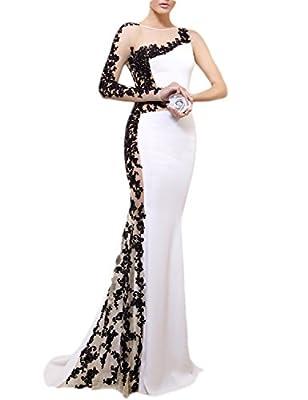 OYISHA Womens Long Sexy Mermaid Wedding Dress Formal Evening Party Gowns EV117