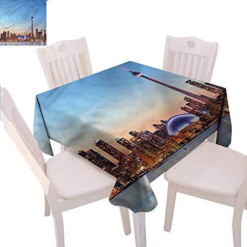 Zara Henry Modern Restaurant Tablecloth Canadian Sky Toronto City Kitchen Household Tablecloth W54 xL54 (Patio Restaurants Toronto Best)