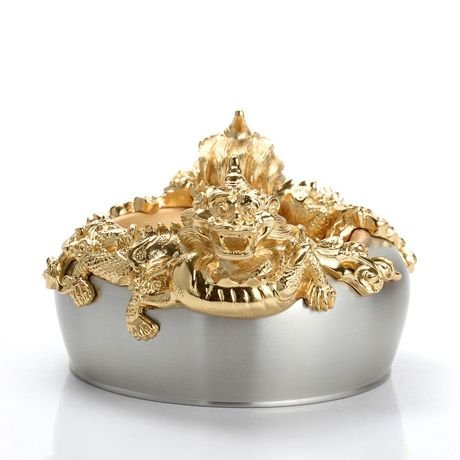 Royal Selangor Hand Finished The Imperial Collection Collection Pewter Imperial Dragon Bowl with 24K Gold plating ()