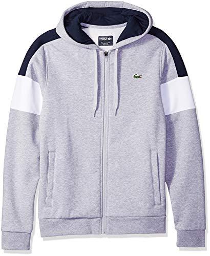 Lacoste Men's Mixed Media Colorblock Hooded Sweatshirt