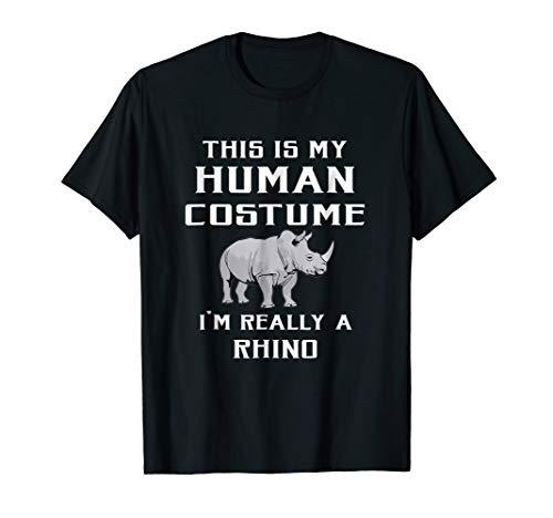This Is My Human Costume I'm Really Rhino T Shirt ()