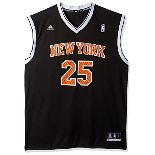0e6866bce NBA New York Knicks Derrick Rose  25 Chevron Fashion Replica Jersey ...