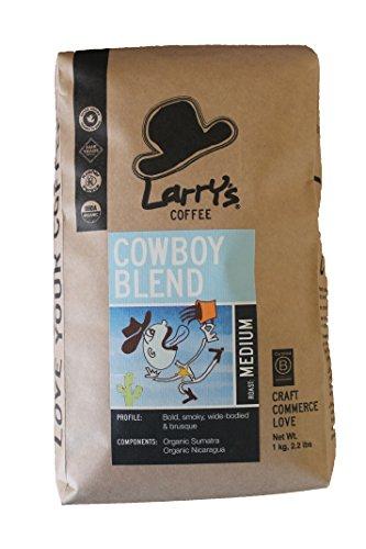 Larry's Coffee Visceral Fair Trade Whole Bean, Cowboy Blend, 2.2 Pound