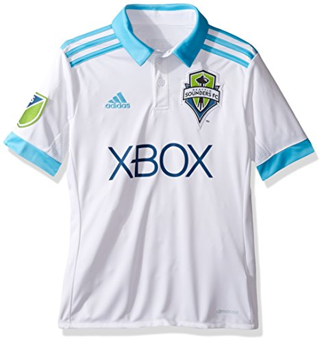 MLS Seattle Sounders FC Youth Unisex Replica Wordmark s/jersey, White, Large