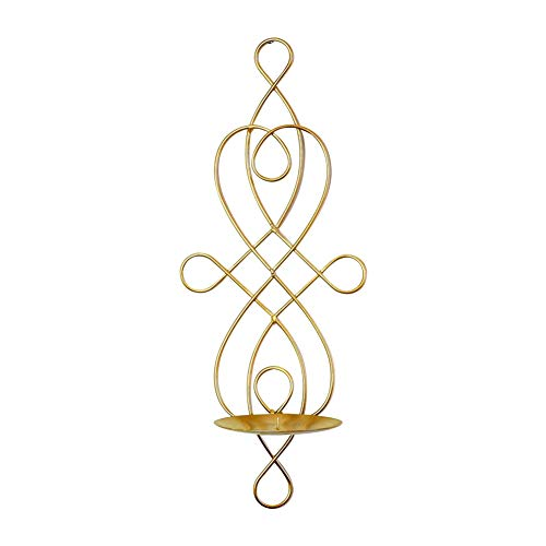 Wansan Wall Mount Candlestick Holders Metal Candle Holder Hanging Candlestick Wedding Restaurant Ornament for Home Decor