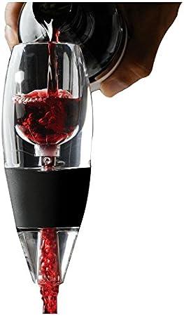 Tavax Juego de decantador de aireador de vino, aireación rápida que hace que el vino tinto sea más sabroso, herramienta de cocina para uso doméstico y fiesta en casa.
