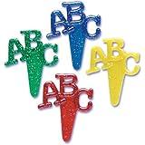 Dress My Cupcake DMC41A-18 12-Pack ABC Pick Decorative Cake Topper, School, Assorted