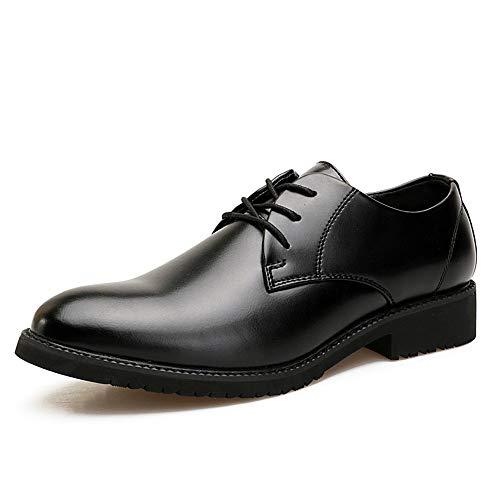Men's Casual EU Oxford Marrone 39 Pelle inglese classico shoes da Scarpe Nero Color Business Xiaojuan cerimonia Scarpe stile classico Uomo Dimensione pA5Bwq