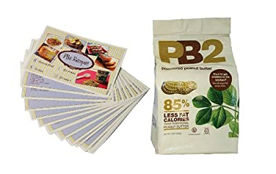 Powdered Peanut Butter - 85% Less Fat and Calories - 16Oz - Free Bonus PB2 Recipe Cards Included (17 Cards in Total) from Bell Plantation