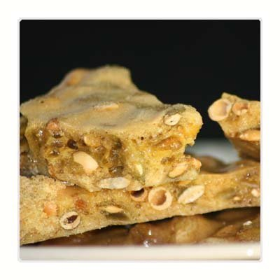Pumpkin Pie Brittle (8 oz bag) made with Pumpkin Seeds (Pepitas) and Seasonal Spices. It's a perfect taste of the holidays! by Brenda's Perfect Brittle