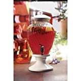 Circleware Obsession Glass Beverage Dispenser Ceramic Base and Lid