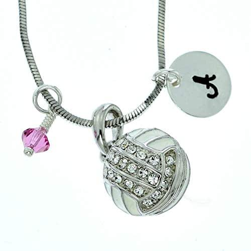Sparkling Crystal Block Ring Chandelier: Amazon.com: Volleyball Personalized Pendant Sparkling