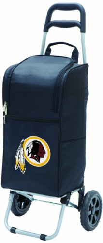 (NFL Washington Redskins Insulated Cart Cooler with Wheeled Trolley, Black)