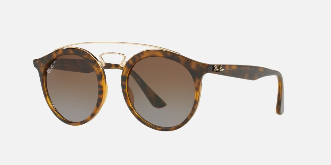 Ray-Ban Injected Unisex Polarized Round Sunglasses, Havana, 49 mm by Ray-Ban