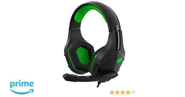 BG Vicker Binaural Diadema Negro, Verde Auricular con micrófono - Auriculares con micrófono (Consola de Videojuegos + PC/Videojuegos, Binaural, Diadema, ...