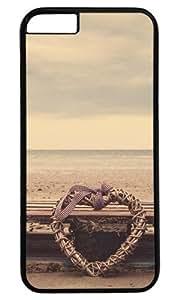 Beach Heart DIY Hard Shell Black Designed For iphone 6 Case